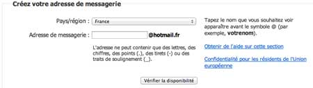 Hotmail inscription MSN
