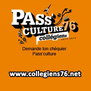 Pass culture avec www.collegiens76.net