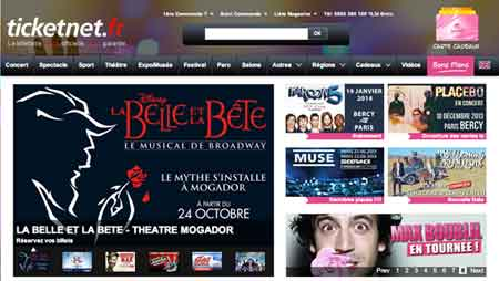 Page accueil Ticketnet